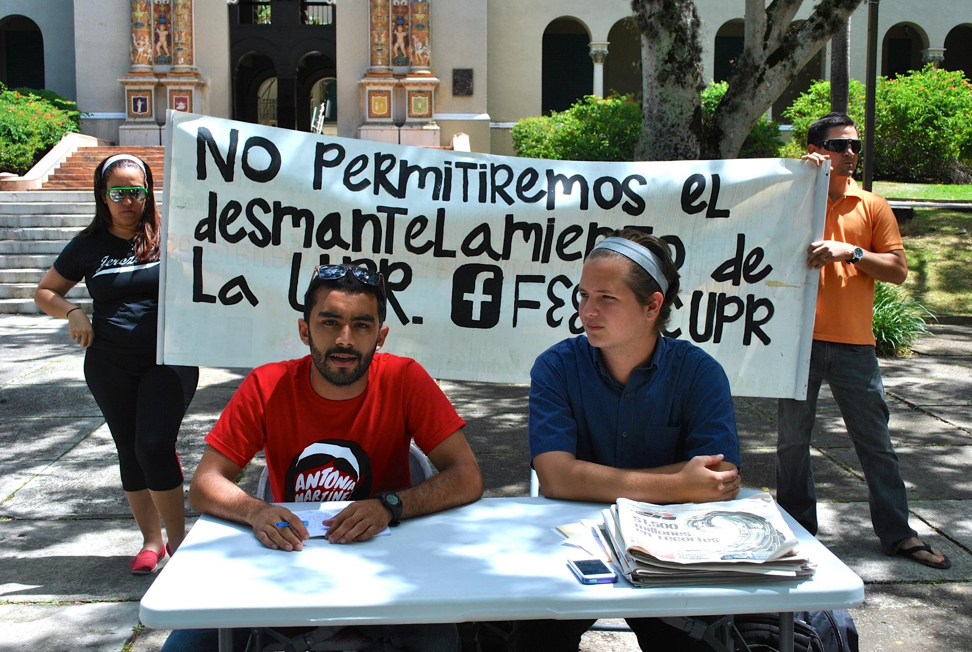 Frente estudiantil realiza actividades en la UPR por una educación pública accesible