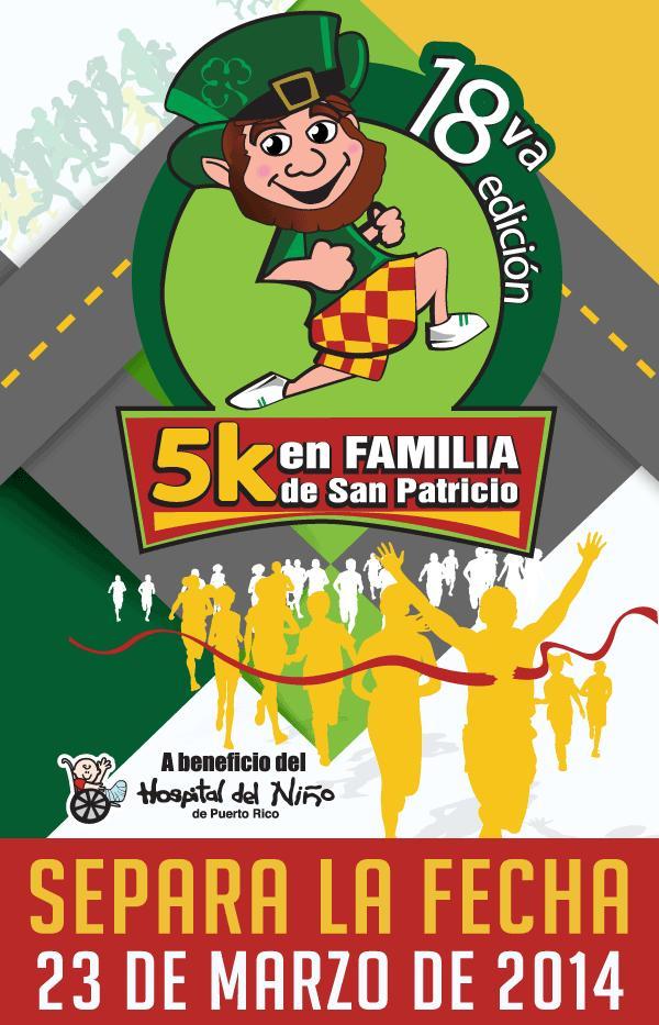 Separa la fecha 5K Familiar de San Patricio