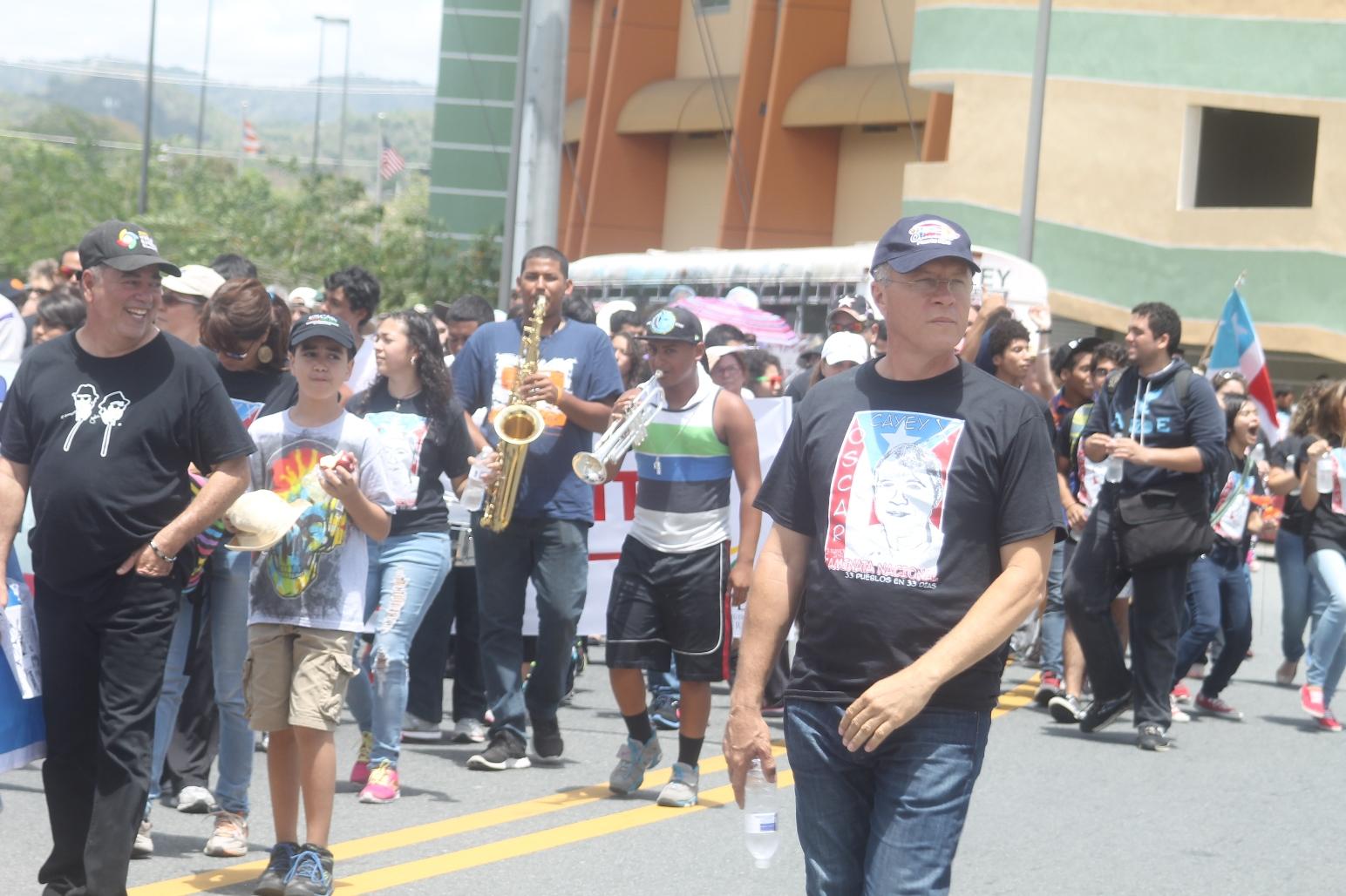 Cayeyanos reclaman la libertad de Oscar López Rivera
