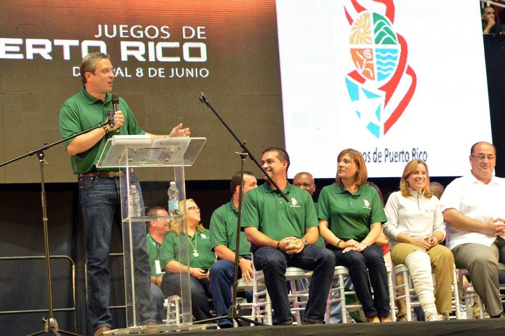 Emocionado el gobernador al inaugurar Juegos de Puerto Rico