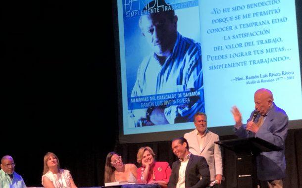 Destacan virtudes de exalcalde Ramón Luis Rivera al lanzar sus memorias en antesala de los 90 años